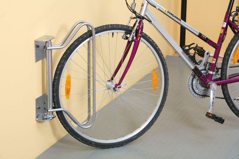 Držák na kola výkyvný stěnový s aretací polohy - pro 1 kolo