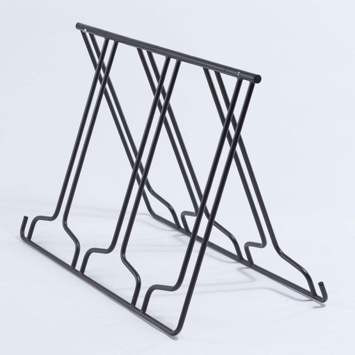 Stojan na kola MOTTEZ - pro 6 kol - skládací, přenosný, tvar A
