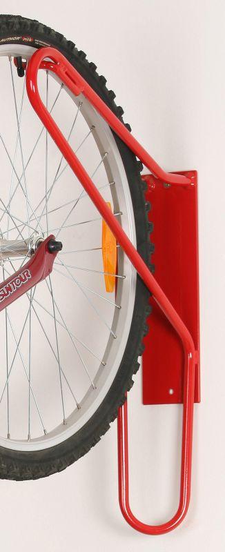 Držák kola na zeď za přední kolo - červený